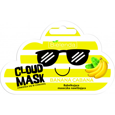 Bielenda CLOUD MASK - bąbelkująca maseczka nawilżająca – Banana Cabana, masa netto: 6 g
