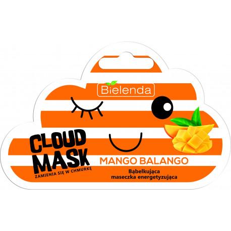 Bielenda CLOUD MASK - bąbelkująca maseczka energetyzująca – Mango Balango, masa netto: 6 g