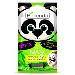 Bielenda CRAZY MASK - detoksykująca maska w płacie PANDA, 1 szt.