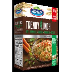 Melvit - Trendy Lunch ryż parboiled, vermicelli, groszek, marchew, bazylia, masa netto: 4 x 80 g