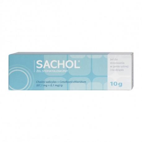 Pharmaswiss - Sachol, żel stomatologiczny, żel do stosowania w jamie ustnej i na dziąsła, masa netto: 10 g