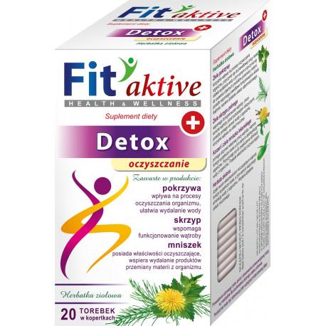 Malwa Fit Aktive - Detox, Oczyszczanie, herbata ziołowa, suplement diety, zawartość: 20 saszetek