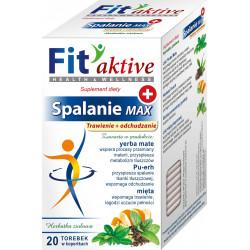 Malwa Fit Aktive - Spalanie MAX, Trawienie i Odchudzanie, herbata ziołowa, suplement diety, zawartość: 20 saszetek