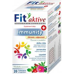 Malwa Fit Aktive - Immunity, Zdrowie i Odporność, herbata owocowa, suplement diety, zawartość: 20 saszetek x 2 g