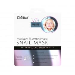 L`Biotica Snail Mask - maska ze śluzem ślimaka na tkaninie, 23 ml