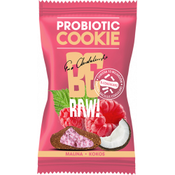 BeRAW ProBiotic Cookie - Malina & Kokos, masa netto: 20 g