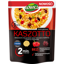 Łowicz - Kaszotto z kaszą bulgur, papryką i czerwoną fasolą, masa netto: 250 g