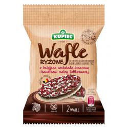 Kupiec - wafle ryżowe z belgijską czekoladą deserową i kawałkami maliny liofilizowanej, masa netto: 32 g