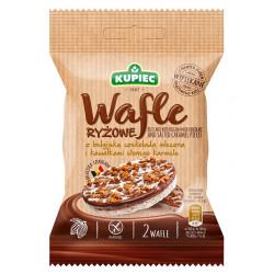 Kupiec - wafle ryżowe z belgijską czekoladą mleczną i kawałkami solonego karmelu, masa netto: 35 g