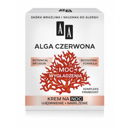 AA Botanical Infusion - Alga czerwona, krem na noc, moc wygładzenia, poj. 50 ml