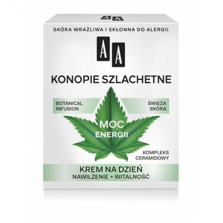 AA Botanical Infusion - Konopie Szlachetne, krem na dzień, moc energii, poj. 50 ml
