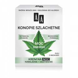 AA Botanical Infusion - Konopie Szlachetne, krem na noc, moc energii, poj. 50 ml