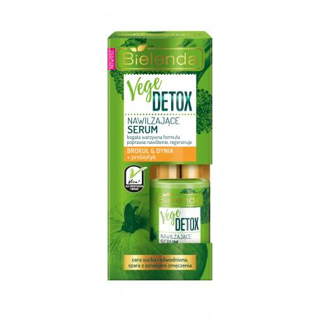 Bielenda VEGE DETOX - nawilżające serum do cery suchej BROKUŁ + DYNIA + PREBIOTYK, poj. 15 ml