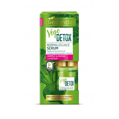 Bielenda VEGE DETOX - normalizujące serum do cery mieszanej JARMUŻ + BURAK + PREBIOTYK, poj. 15 ml