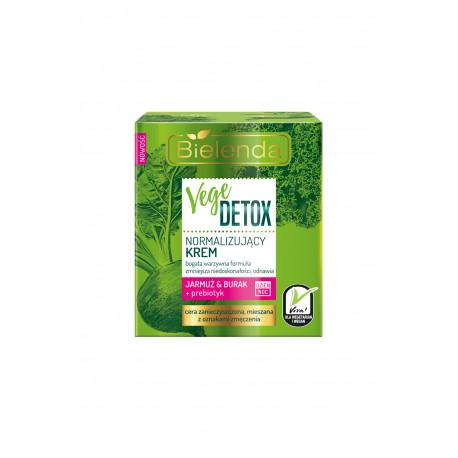 Bielenda VEGE DETOX - normalizujący krem do cery mieszanej JARMUŻ + BURAK + PREBIOTYK dzień/ noc, poj. 50 ml