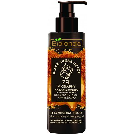 Bielenda BLACK SUGAR DETOX - detoksykująco – nawilżający żel micelarny do mycia twarzy, poj. 200 g