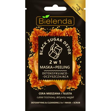 Bielenda BLACK SUGAR DETOX - 2w1 Detoksykująco – oczyszczająca maska + peeling, poj. 8 g