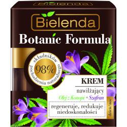 Bielenda BOTANIC FORMULA Olej z Konopi + Szafran - Krem nawilżający dzień/ noc, poj. 50 ml