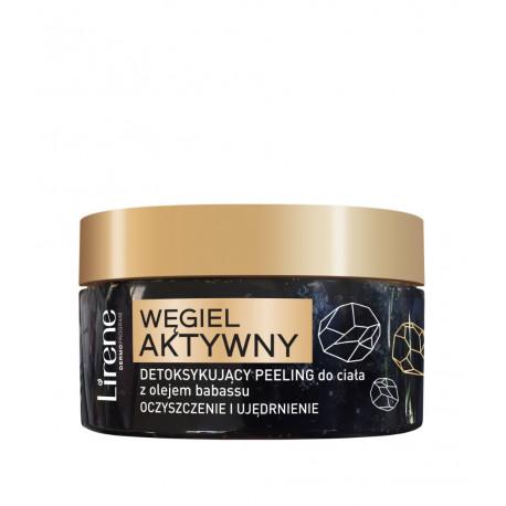 Lirene WĘGIEL AKTYWNY - detoksykujący peeling do ciała z olejem babassu, poj. 200 g