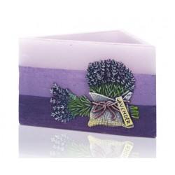 Rustic Lavender - lampion trójkąt 160x95