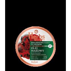 Farmona Herbs - olej makowy, emolientowa maska do delikatnych i zniszczonych włosów, poj. 250 ml