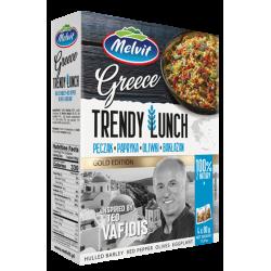 Melvit - Trendy Lunch Greece, pęczak, papryka, oliwki, bakłażan, masa netto: 4 x 80 g
