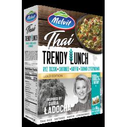 Melvit - Trendy Lunch Thai, ryż tajski, shitakee, kaffir, trawa cytrynowa, masa netto: 4 x 80 g