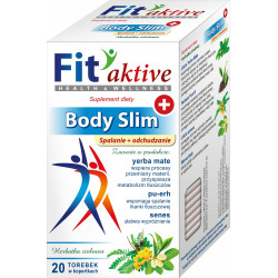 Malwa Fit Aktive - Body Slim, Spalanie i Odchudzanie, herbata ziołowa, suplement diety, zawartość: 20 saszetek x 2 g