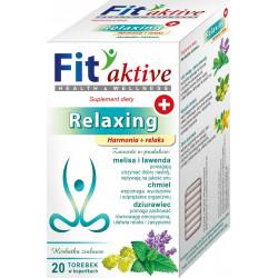 Malwa Fit Aktive - Relaxing, Harmonia i Relaks, herbata ziołowa, suplement diety, zawartość: 20 saszetek x 2 g