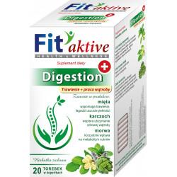 Malwa Fit Aktive - Digestion, Trawienie i Praca Wątroby, herbata ziołowa, suplement diety, zawartość: 20 saszetek x 2 g