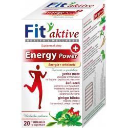 Malwa Fit Aktive - Energy Power, Energia i Witalność, herbata ziołowa, suplement diety, zawartość: 20 saszetek x 2 g