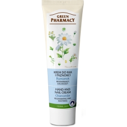 Green Pharmacy Rumianek - krem do rąk i paznokci, regenerujący, łagodzący, poj. 100 ml