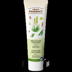 Green Pharmacy Aloes - krem do rąk i paznokci, nawilżający, zmiękczający, poj. 100 ml