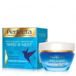 Perfecta Bird's Nest - wypełnienie zmarszczek, odbudowa i regeneracja, krem na dzień i na noc 70+, poj. 50 ml