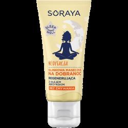 Soraya SLEEP WELL - MEDYTACJA, glinowa maseczka NA DOBRANOC regenerująca z olejem abisyńskim, poj. 30 ml