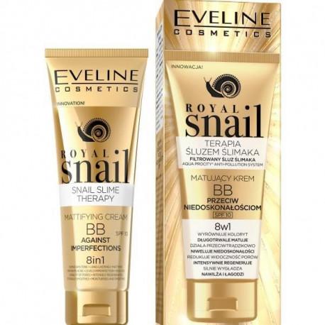 Eveline Royal Snail - matujący krem BB przeciw niedoskonałościom, 8w1, poj. 50 ml