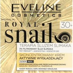 Eveline Royal Snail - skoncentrowany krem aktywnie wygładzający na dzień i na noc, 30+, każdy rodzaj cery, poj. 50 ml