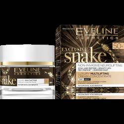 Eveline Exclusive Snake - silnie ujędrniający krem, modelujący kontur twarzy na dzień i na noc, 50+, poj. 50 ml