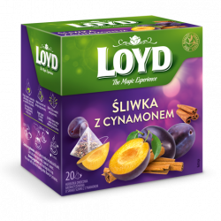 LOYD - Śliwka z cynamonem, herbatka owocowa, poj. 20 torebek piramidek x 2 g