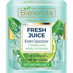 Bielenda FRESH JUICE - Detoksykujący Krem booster z bioaktywną wodą cytrusową LIMONKA, poj. 50 ml