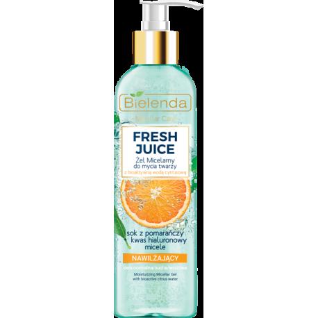 Bielenda FRESH JUICE - Nawilżający żel micelarny do mycia twarzy POMARAŃCZA, poj. 190 ml