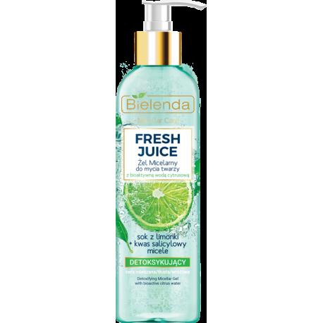 Bielenda FRESH JUICE - Detoksykujący żel micelarny do mycia twarzy LIMONKA, poj. 190 ml