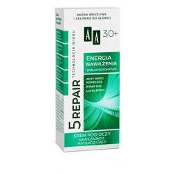 AA Technologia Wieku 5 Repair - ENERGIA NAWILŻENIA, krem pod oczy nawilżająco-wygładzający 30+, poj. 15 ml