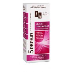 AA Technologia Wieku 5 REPAIR - MULTI ODMŁODZENIE, krem pod oczy wygładzająco-ujędrniający 40+, poj. 15 ml