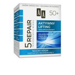 AA Technologia Wieku 5 REPAIR - AKTYWNY LIFTING, nocny krem odżywczo-regenerujący 50+, poj. 50 ml