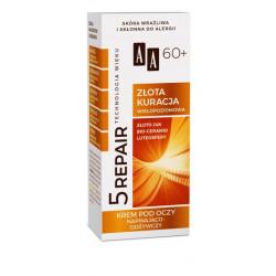 AA Technologia Wieku 5 REPAIR - ZŁOTA KURACJA, krem pod oczy napinająco-odżywczy 60+, poj. 15 ml