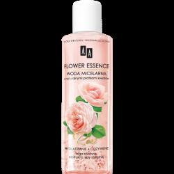 AA Flower Essence - ROSE, wygładzanie i odżywianie, Woda micelarna z naturalnymi płatkami kwiatów, poj. 200 ml