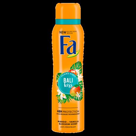 FA ISLAND VIBES - Bali Kiss, antyperspirant do ciała w aerozolu o zapachu mango i kwitnącej wanilii , poj. 150 ml