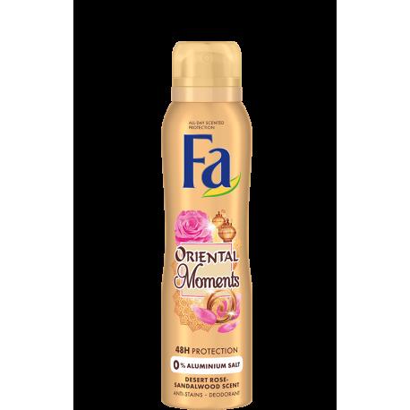 FA MOMENTS - Oriental Moments, dezodorant do ciała w aerozolu o zapachu drzewa sandałowego i pustynnej róży, poj. 150 ml