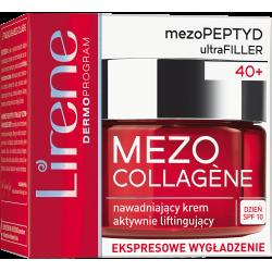 LIRENE MEZO COLLAGENE - nawadniający krem na dzień, aktywnie liftingujący 40+, SPF 10, poj. 50 ml